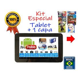 Kit Especial Tablet Criança E-book Interativo + Brinde Capa