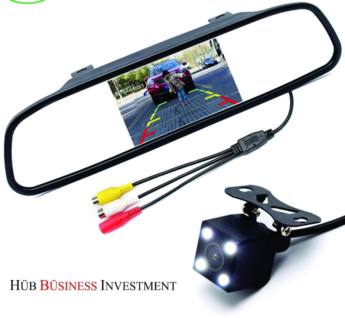 Kit espejo retrovisor auto pantalla lcd camara retroceso for Espejo retrovisor para ninos