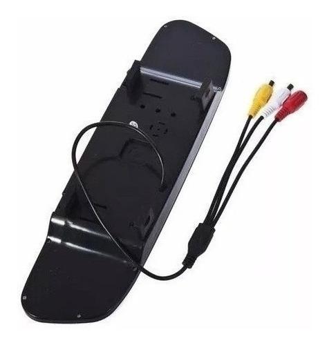 kit espelho retrovisor com tela lcd 4.3 + camera re colorida