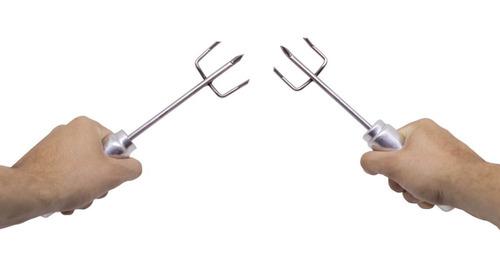 kit espetos auxiliares garrinhas inox - pés de galinha - a3