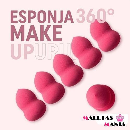 kit esponja gota 360 p/ base e maquiagem puff
