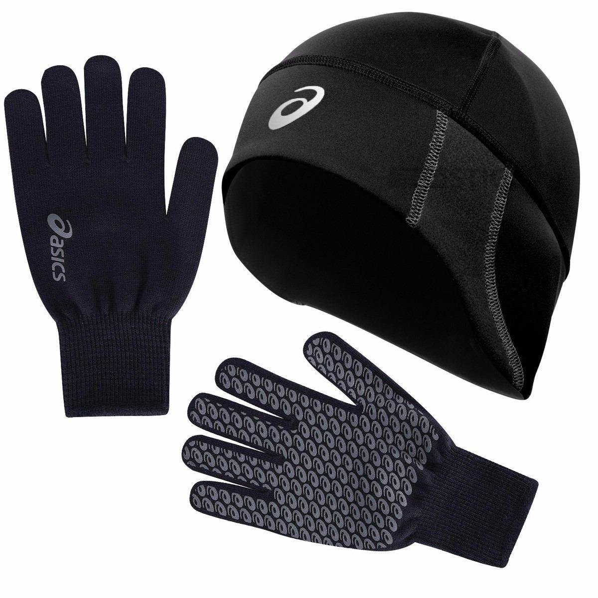 kit esportivo p  frio touca e luvas asics thermal tam. g gg. Carregando  zoom. 8d1b86e0b92