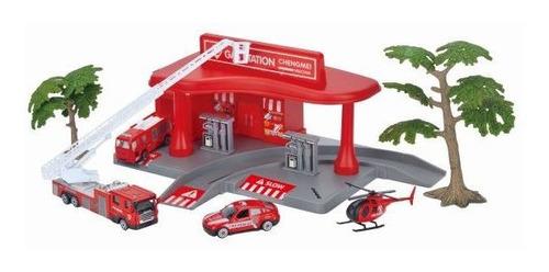 kit estação bombeiro com carrinho de metal est-410 fenix