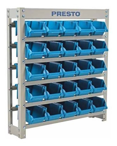 kit estante gaveteiro organizador 25 gavetas nº3 azul presto