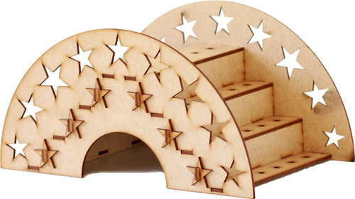 kit estrela 39 peças festa provençal em mdf cru + brinde