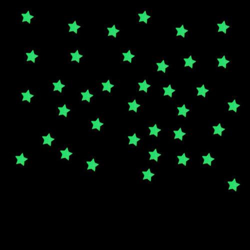 kit estrela fluorescente adesivo decoração teto colorida