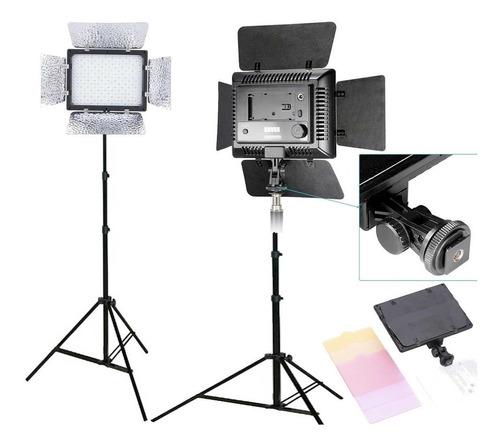kit estudio tripe e iluminador led 300 videos w300 bi-color
