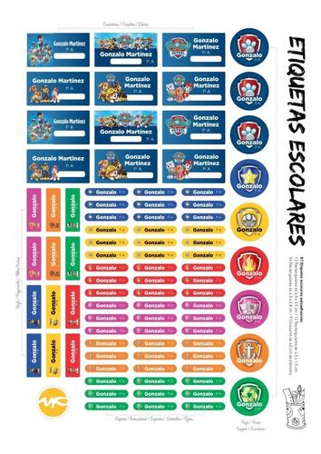 kit etiquetas escolares personalizadas