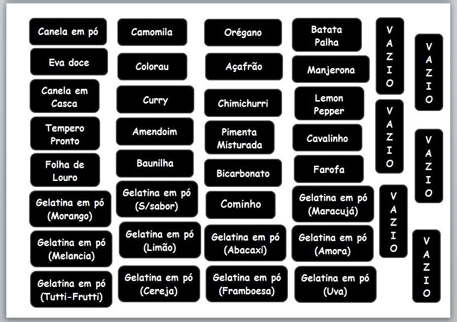 Kit Etiquetas Organiza Potes Cozinha Envio Imediato R 8 50 Em