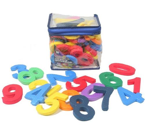 kit eva bolsa numéricos 30 peças colorido 35968 - eva kids