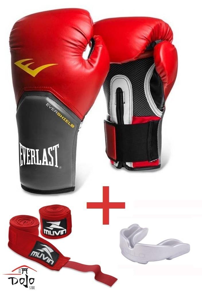 a57710f7b kit everlast   luva boxe muay thai bandagem bucal  promoção. Carregando  zoom.