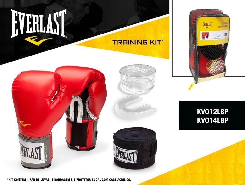 a743ae61f kit everlast luva boxe muay thai vermelha + bandagem + bucal. Carregando  zoom.