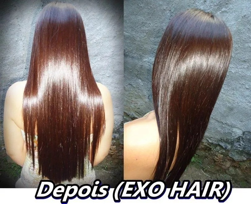 68661bfc0 kit exoplastia capilar alisamento 2x500ml original exo hair. Carregando  zoom.