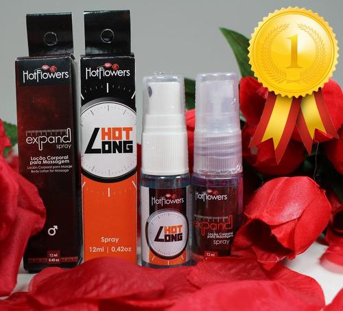 kit expand + hotlong hotflowers lubrificantes sexo