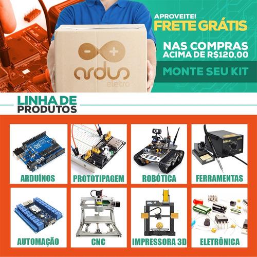 kit experimental arduino uno r3 automação 130 pçs