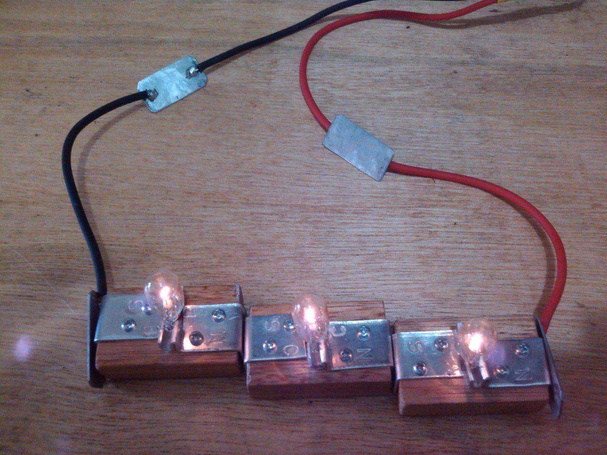 Circuito Em Série : Kit experimento de física circuito série paralelo r