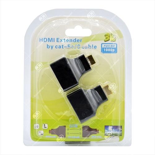 kit extensor hdmi por cable de red utp rj45  hasta 30 metros