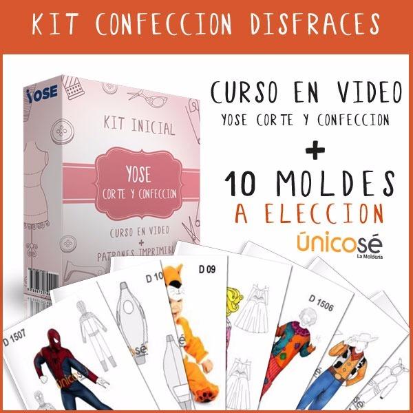 Kit Fabricación Disfraces Video Curso + Moldes Nuevo! - $ 1.197,00 ...