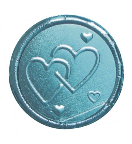 kit fabricacion monedas chocolate ref. corazones unidos