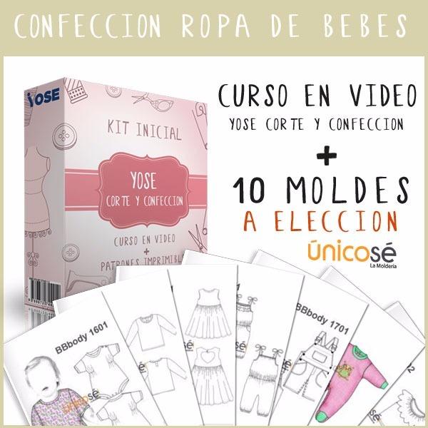 Kit Fabricación Ropa Para Bebes, Video Curso + Moldes Nuevo ...