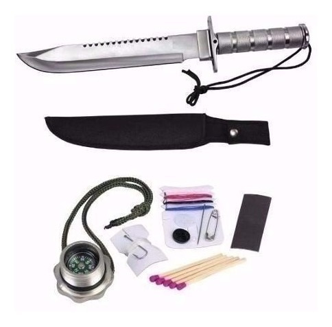 kit faca do rambo tática militar camping selva + 150.000kv