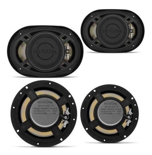 kit fácil bravox 2 falante 6x9 e 2 falante de 6