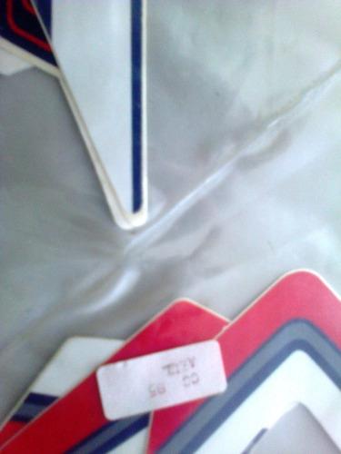 kit faixa adesiva cg 85 azul completo
