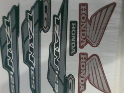 kit faixa adesiva titan 125 verm es/esd  2014 completo