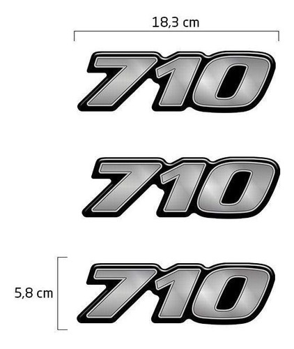 kit faixa mercedes mb 710 plus 2004 + emblemas capô lateral