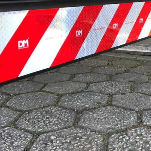 kit faixa refletiva parachoque + 16 lateral caminhão dm (3m)
