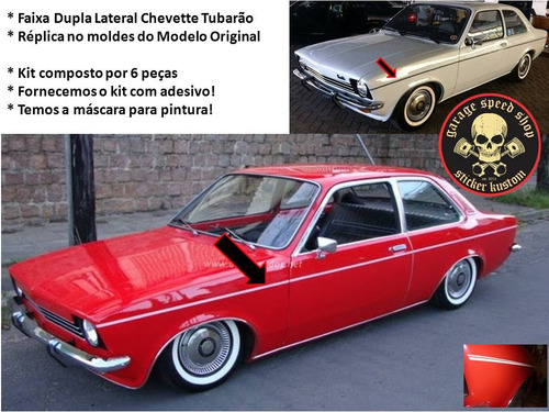 kit faixas filete lateral chevette tubarão