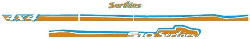 kit faixas laterais s-10 sertões kit decorativo completo  3m
