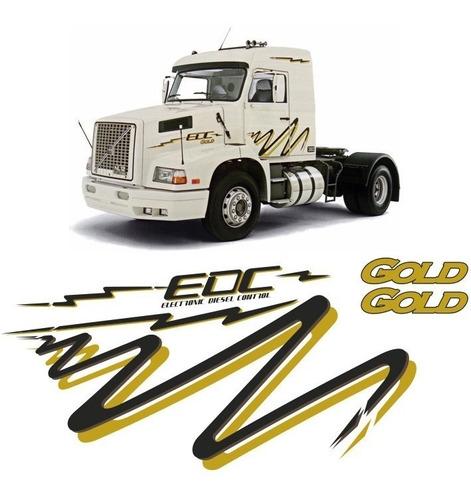 kit faixas/adesivos volvo edc gold