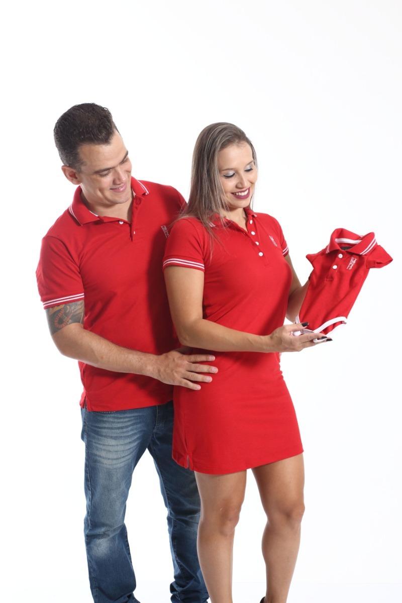 Kit Família Camisa Polo E Vestido Composto Por 3 Peças. - R  299,00 ... 581fb4c84b
