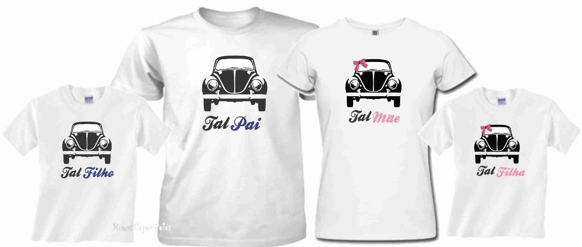 c95d190d2 kit família camisetas personalizadas fusca. Carregando zoom.