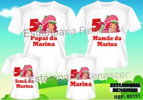 e927aef543 Camisetas Para A Familia Da Moranguinho Baby - Calçados