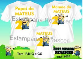 4d5e4f0cc1b2 Kit Pai Mae Minions no Mercado Livre Brasil