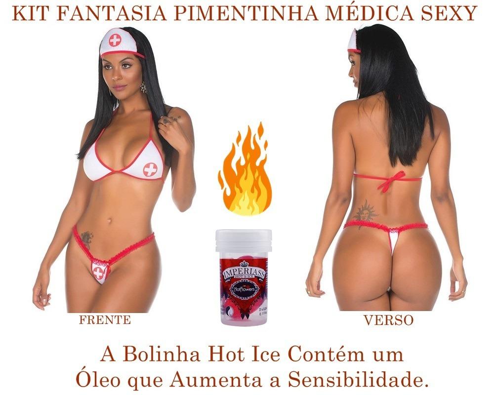 23cf55ce2 kit fantasia pimentinha médica pimenta sex + 2 bolinhas hot. Carregando  zoom.