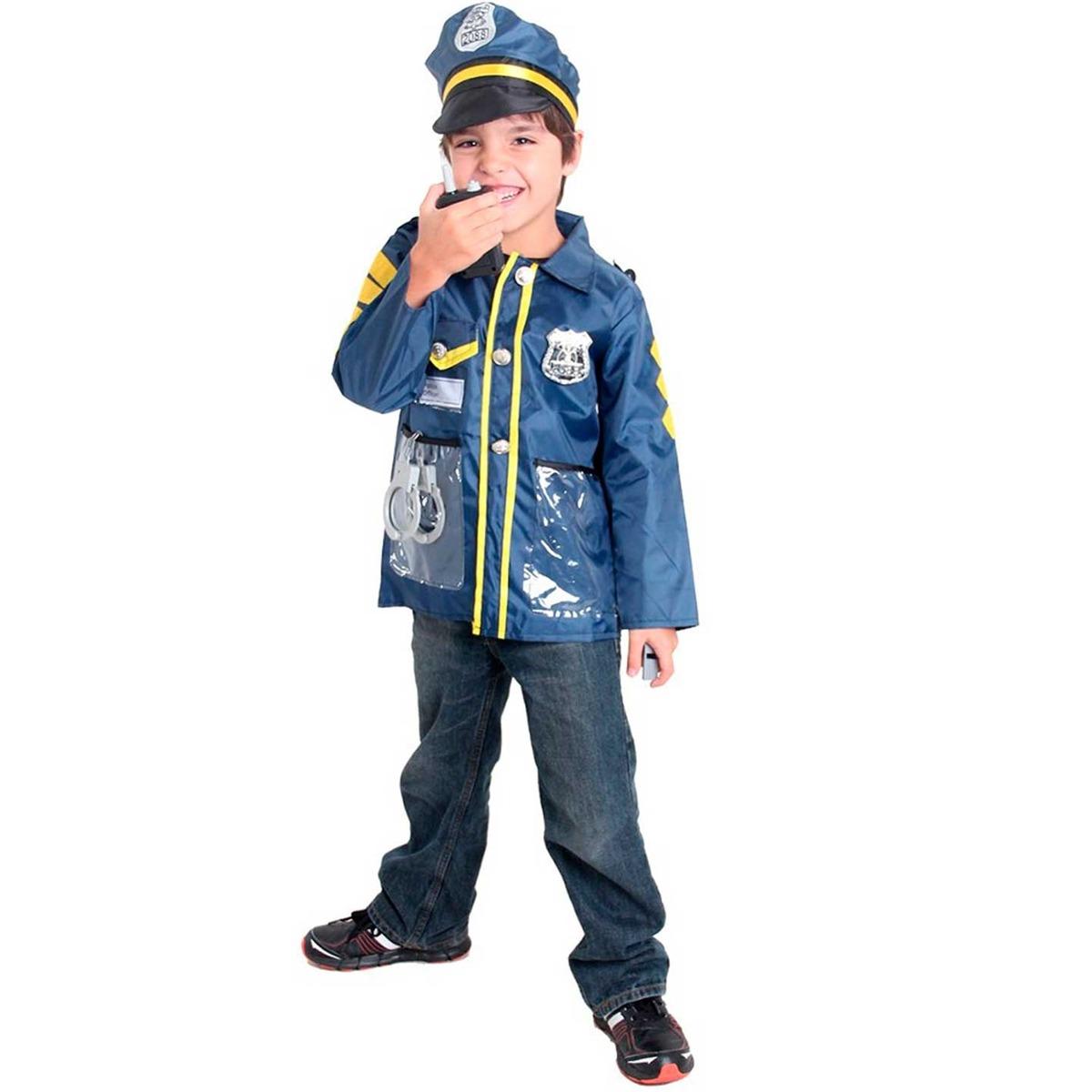 kit fantasia policial infantil de luxo c  acessórios e boina. Carregando  zoom. 7fab4347641