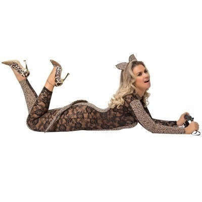 kit fantasia sexy sensual gatinha manhosa sapeka tam unico