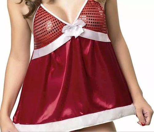 kit fantasia vestido mamãe noel para o natal sexy adulta top