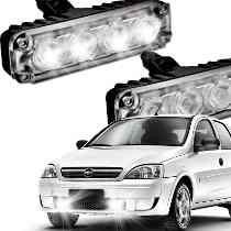 kit farol auxiliar strobo power led xenon universal aluminio