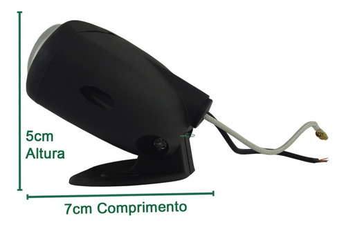 kit farol auxiliar universal mini fusca moto triciclo carro