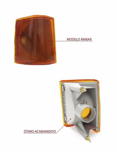 kit farol d20 92 93 94 95 96 97 98 + pisca + lente tricolor