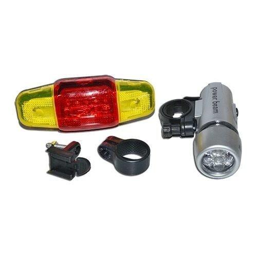 kit farol+lanterna luz bike iluminação segurança bicicleta