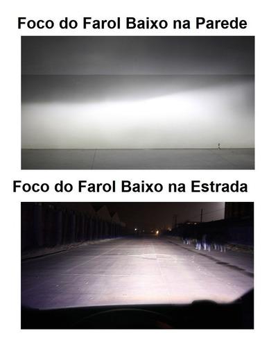 kit farol led 12400lm fiat cronos 2018/2019 alto baixo milha