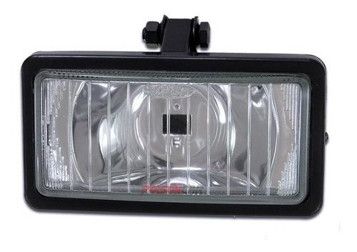 kit farol milha auxiliar universal retangular lente de vidro