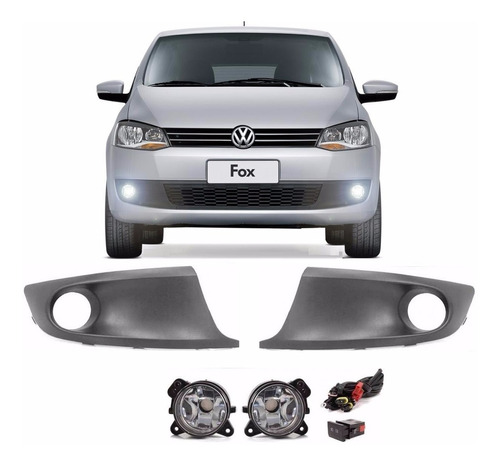 kit farol neblina auxiliar fox spacefox 2010 2011 2012 2013