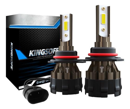 kit faros focos led k2 9005 hb3 h10 alta baja 10000lm 6000k