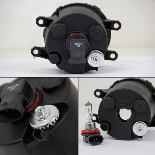 kit faros niebla antiniebla negros toyota sienna 2011 - 2017